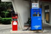 Oil station in the Rome city on May 31, 2014 — Stock Photo