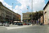 View of Rome city Piazza della Reppublica on June 1, 2014 — Stock Photo