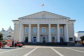 Vilnius city town hall place on September 24, 2014 — Stock Photo