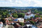 Vilnius city aerial view from Vilnius University tower — Stock Photo