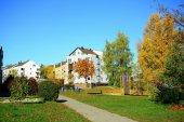 Vilnius city Pasilaiciai district at autumn time — Stock Photo