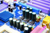 Computer motherboard in private collection on November 23, 2014 — Stock Photo