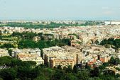 Aerial view of Rome city from St Peter Basilica roof — Stock Photo
