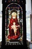 Vitray üzerinde 30 Nisan 2014 Vatikan Müzesi'nde — Stok fotoğraf
