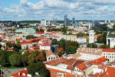 Vilnius city aerial view from Vilnius University tower — Stock Photo
