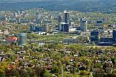 Vilnius city capital of Lithuania aerial view — Stock Photo