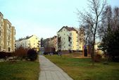 Vilnius city Pasilaiciai district at winter time — Stock Photo