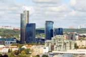 ヴィリニュス大学タワーからヴィリニュス市空撮 — ストック写真