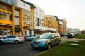 Distrito de perfección de la ciudad de Vilnius en tiempo de otoño — Foto de Stock
