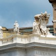 Sculptures on the facade of Vatican city works — Stock Photo #61703979