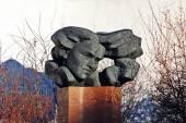 Sculpture of famous lithuanian poetess Salomeja Neris — Stock fotografie