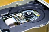 Laser in DVD-ROM disk drive open unit  — Stockfoto