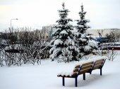 Winter in capital of Lithuania Vilnius city — Stockfoto