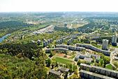 Vilnius city capital of Lithuania aerial view — Stock Photo