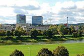 Vilnius city panorama with river Neris on September 24, 2014 — Stock Photo
