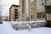 Winter in capital of Lithuania Vilnius city Pasilaiciai district — Stockfoto