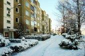 Зима в капитале города Литвы Вильнюса pasilaiciai район — Стоковое фото