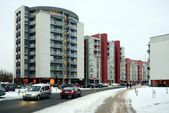 Vilnius city houses in Zirmunai district Nord city — 图库照片