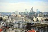 Vilnius Winter Panorama From Gediminas Castle Tower — Stockfoto