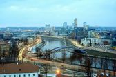 Vilnius Winter Panorama From Gediminas Castle Tower — Stock Photo