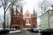 Vilnius St Anne's and Bernardine Churches in winter — Stock Photo