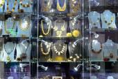 Amber shop exposition in Vilnius city Gediminas prospect — Stock Photo