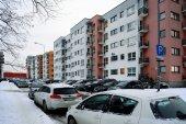 Vilnius city houses in Zirmunai district Nord city — Stock Photo