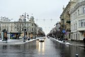 Vilnius City White Winter Morning Time Panorama — Stok fotoğraf