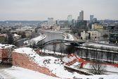 Vilnius Winter Panorama From Gediminas Castle Tower — Stock fotografie