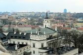 Vilnius Winter Panorama From Gediminas Castle Tower — Stock Photo