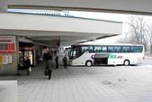 Bus station in capital of Lithuania Vilnius city — Stock Photo