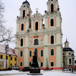 Church of St. Catherine at winter time — Stock Photo #66124919