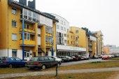 Vinter i huvudstaden i Litauen Vilnius stadsdelen Pasilaiciai — Stockfoto