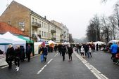 Vilnius city in annual traditional crafts fair: Kaziukas fair — Stock Photo