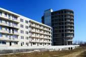 The unfinished residential building construction in Pasilaiciai — Foto de Stock
