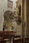 GHENT, BELGIUM-OKTOBER 26, 2014: Interior of  of St. Pete 's abb — Stock Photo