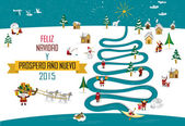 Eskimos New year Christmas 2015 (Spanish Text) — 图库矢量图片