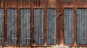 Doors on wooden shed — Stock Photo