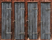 Doors on wooden shed — Foto de Stock