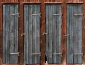 Doors on wooden shed — Stok fotoğraf