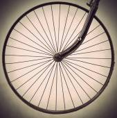 Wheel of ancient bicycle — Stock Photo