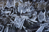 Pattern of ice crystals — 图库照片