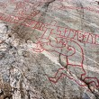 Famous viking rock carvings — Stock Photo #68522865