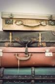 Vintage deri bavul — Stok fotoğraf