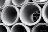 堆的混凝土管 — 图库照片