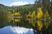Beautiful scandinavian lake in autumn — Stock Photo