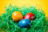Easter colored eggs — Stock Photo