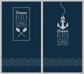 Ocean. Hipster web media backdrop. — Cтоковый вектор