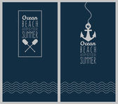 Ocean. Hipster web media backdrop. — 图库矢量图片