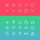 Modern media Icons — Stock vektor